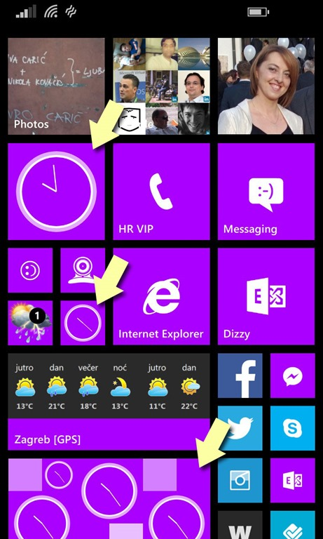 DomagojPa blog | Analog Clock on a Live Tile – my new